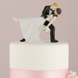 Bride And Groom Porcelain Cake Topper
