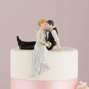 The Look Of Love Bride And Groom Porcelain Cake Topper
