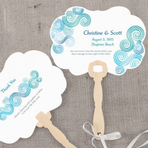 Sea Breeze Personalized Hand Fan