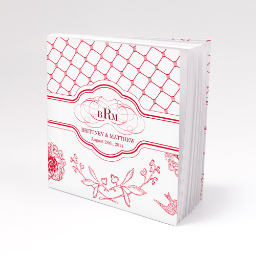 Floral and Trellis Notepad Wedding favour