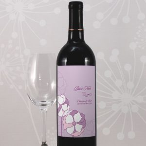 Pinwheel Poppy Wine Label