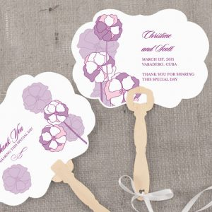 Pinwheel Poppy Personalized Hand Fan
