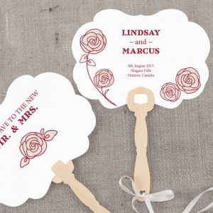Rose Personalized Hand Fan