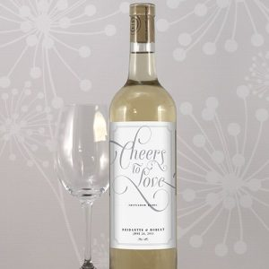 Wedding Wine Bottle Label