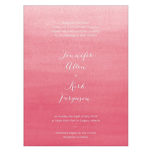 Embossed Pearls and Lace Personalised Invitation