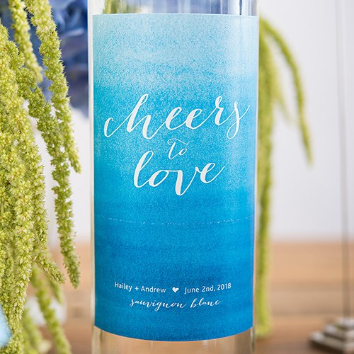 Custom Wedding Wine Bottle Label