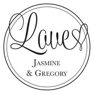 Love Personalised Rubber Stamp