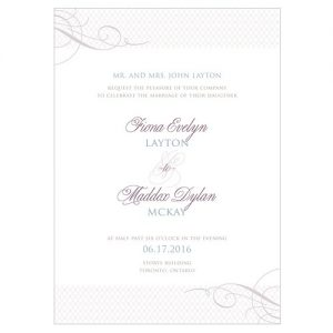 Wedding Invitation - Contemporary Vintage Digitally Printed Wedding Invitation