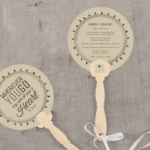 Personalised Paddle Hand Fan