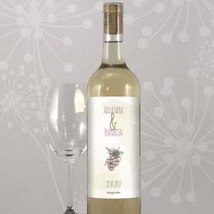 Natural Charm Custom Wine Label