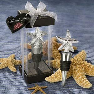 Elegant Starfish Design Bottle Stopper favours