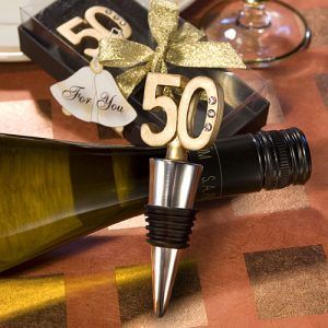 50Th Anniversary Wine Bottle Stopper favours