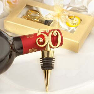 Golden-50 wine bottle stoppers