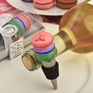 Deliciously-Different macaron design wine bottle stoppers