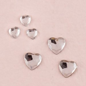 Heart Shaped Diamond Table Crystals