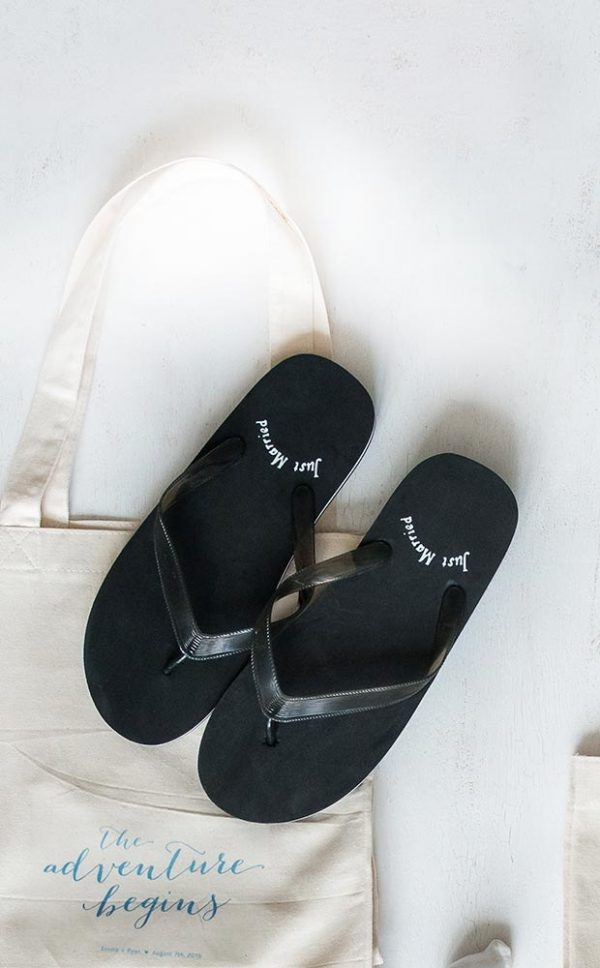 Just Married Flip Flops