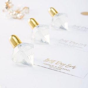 Diamond Shaped Wedding Bubbles