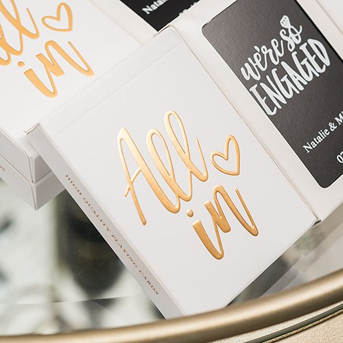 Personalised Playing Cards Wedding Favour