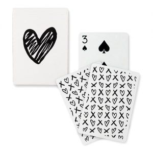 Black Foil Modern Heart Playing Cards