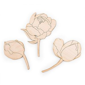 Flower Cake Topper Set