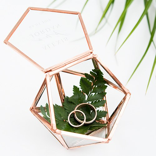 Geo Wedding Ring Holder