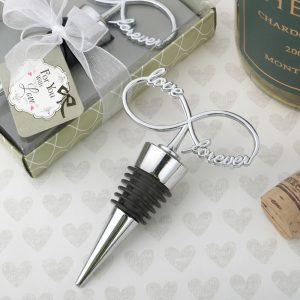 Infinity design chrome silver bottle stopper