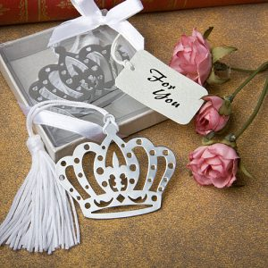 Crown Design Bookmark favours