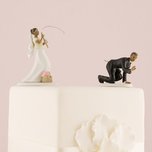 Gone Fishing Couple Cake Topper