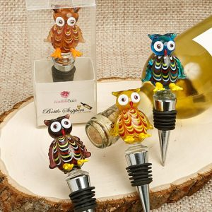 Murano Glass Owl Bottle Stoppers
