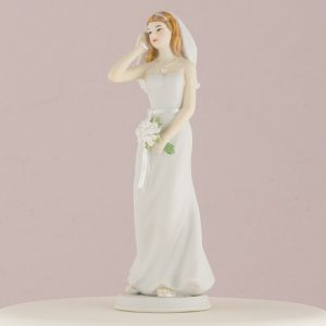 Cellphone Fanatic Bride and Groom Cake Topper