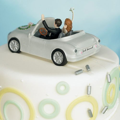 Honeymoon Car Cake Topper