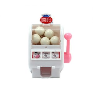White and Bubble Gum Pink Mini Slot Machine favour