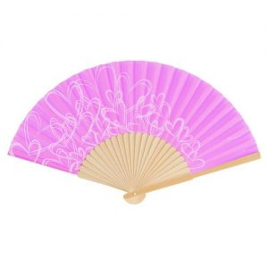 Orchid Purple Hand Fan