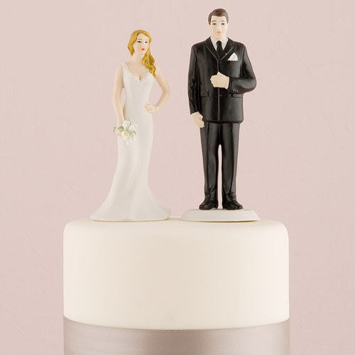 Curvy and Burley Bride and Groom Cake Topper