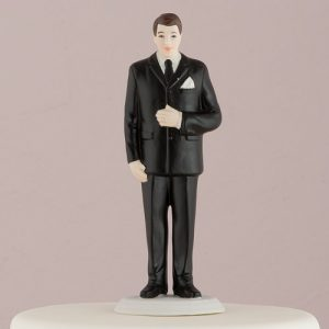 Groom Porcelain Cake Topper