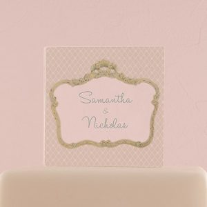 Acrylic Block Personalised Cake Topper