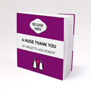 Personalized Notepad favour with Penguin Couple