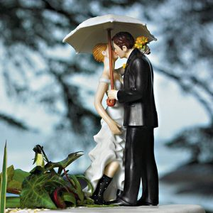 Romantic Umbrella Cake Topper