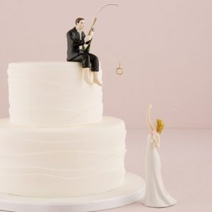 Hooked on Love Cake Topper
