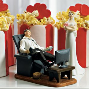 """Couch Potato"" Groom Figurine"