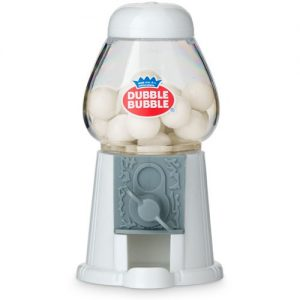 Mini White Gumball Machine favour with Gumballs 1