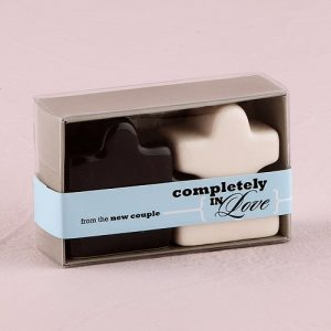 Puzzle Pieces Salt And Pepper Shakers wedding favour