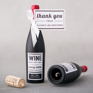 Wine Bottle Wedding Favour