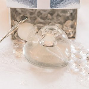 Heart Shaped Wedding Bubbles Favour
