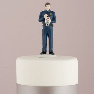 Policeman Groom Cake Topper