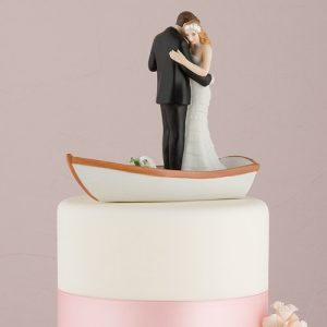 Row Away Couple Cake Topper