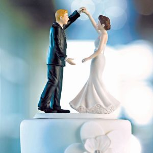 His Biggest Fan Bride and Groom Cake Topper #1 Fan Cheering