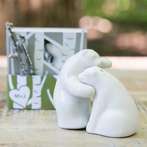 Ceramic Bear Salt and Pepper Shakers Wedding Favour