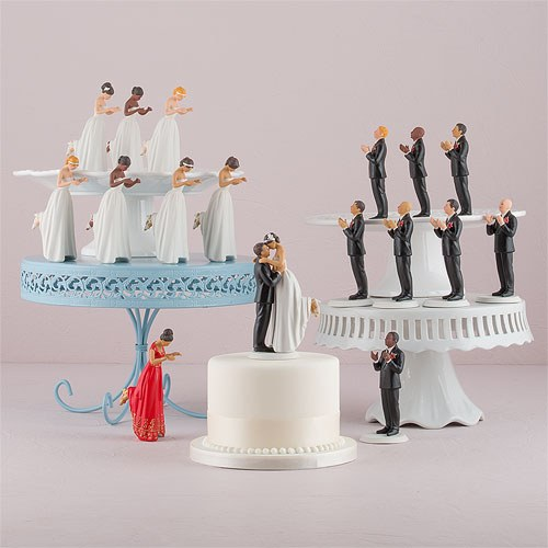Mixed Race Bride and Groom Cake Topper