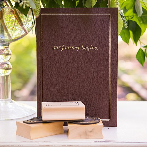 Our Journey Begins Travel Inspired Guest Book